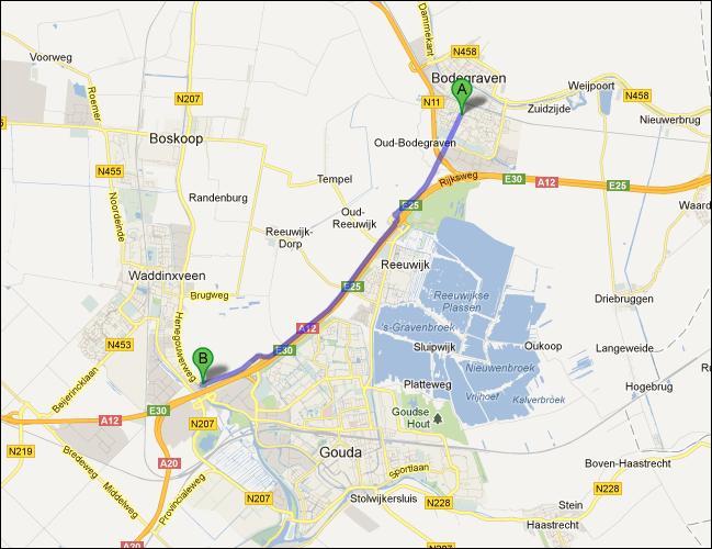 locatie opslagruimte nabij Bodegraven
