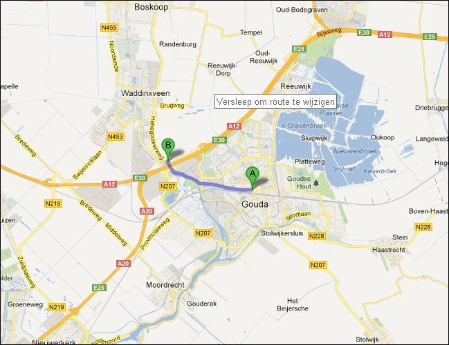 locatie van opslagruimte nabij Gouda