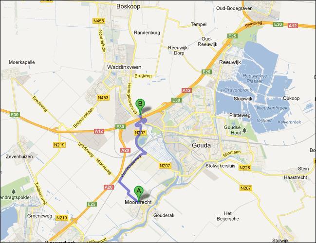 locatie van opslagruimte nabij Moordrecht