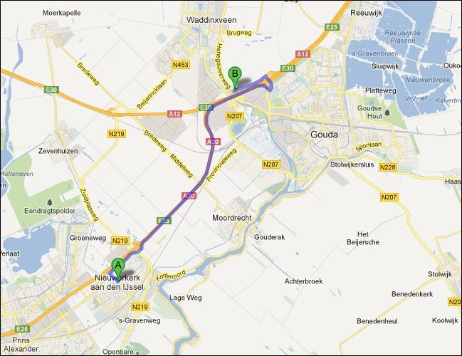 locatie van opslagruimte nabij Nieuwerkerk a/d IJssel