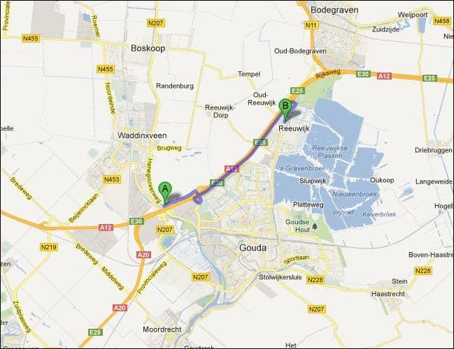 locatie van opslagruimte nabij Reeuwijk