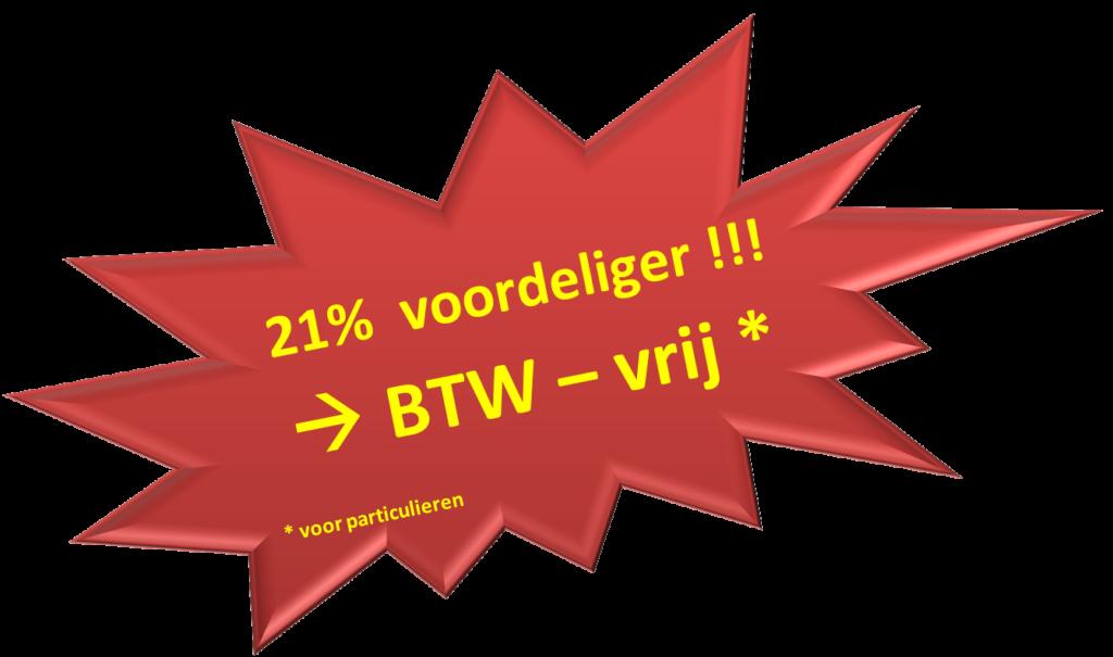 21% voordeliger - Opslagruimte BTW-vrij